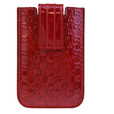 Auth GUCCI GG Logos I Phone 4 Smartphone Case Patent Leather Red Italy 08BE223