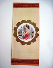 """RARE 1934 """"California Perfume Co."""" Pamphlet Featuring """"Avon Products"""" *"""