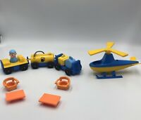 Fisher Price Little People 933 Airport Fuel Luggage Figure Lot Helicopter Chair