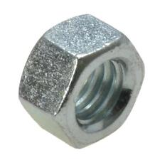 """Qty 10 Hex Standard Nut 1/4"""" UNC Imperial Zinc Plated Steel Grade 8 BSW ZP"""