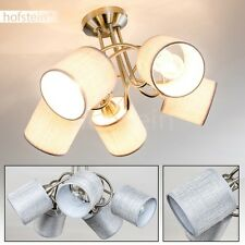 Plafonnier Lampe de chambre à coucher Tissu marron Lampe de séjour Lustre 163794