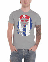 Che Guevara T Shirt Star And Stripes Cuban Revolution new Official Mens Grey