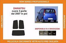 pellicola oscurante vetri dahiatsu cuore 3 p dal 2007 in poi kit posteriore