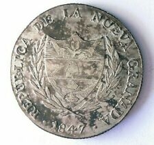 1847 COLOMBIA (BOGOTA) 8 REALES - Incredibly Rare Silver Crown Coin - Lot #N23