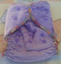 1 New Lilac Bamboo Velour Cloth Diaper Nappy Adjustable 8-33lbs, Free Insert!