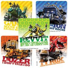 Dinotrux Stickers - Dinosaur Stickers - Trucks Stickers - Birthday Party Favours