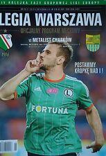 Programm UEFA EL 2014/15 Legia Warschau - Metalist Charkow