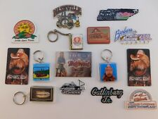 Vintage Lot of 15 TENNESSEE Refrigerator MAGNETS & KEYCHAINS Nashville