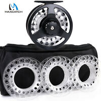 Maxcatch Fly Reel Combo Cassette Fly Fishing Reel With 3 Extra Cassette Spools