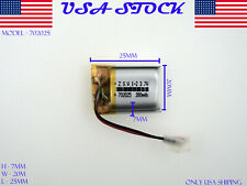 3.7V 280mAh 702025 Lithium Polymer LiPo Rechargeable Battery (USA STOCK)