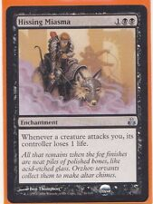MTG 1 x  HISSING MIASMA  Guildpact  Uncommon card  Enchantment Never played