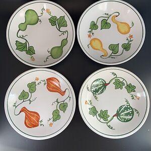 "set of 4 Williams-Sonoma 9"" pasta bowls • Portugal • Les Gourdes pattern Squash"