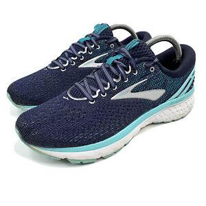 Womens 10.5 Brooks Ghost 11 Running Blue / Turqoise 1202771B493
