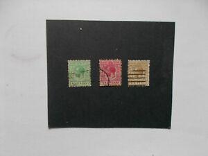 BAHAMAS: 1912  King George V  defins 3stamps  F/Used btwn Sg81/86