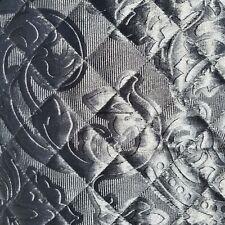 Waterford Fine Linens 3pc Full/Queen Damask Quilt Platinum Velvety Soft Elegant