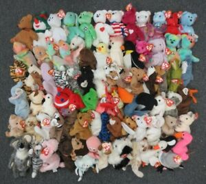 ~~79 TY BEANIE BABIES & ATTIC TREASURE COLLECTION LOT - WHOLESALE BULK