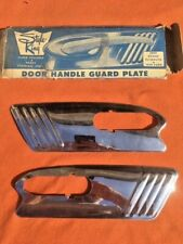 1949 Ford Deluxe Custom NORS Accessory Style-King Door Handle Guard Plate PAIR