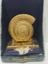 Tommy Bahama Mantel Christmas Gold Seashell Stocking Holder Home Decor