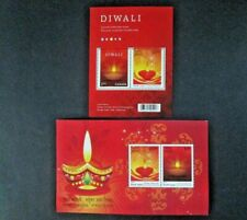 "Canada - India JOINT Issue ""DIWALI ~ FESTIVAL OF LIGHTS"" Set of 2 MS 2017 !"