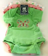 Gerber Baby Girls 3-Pack Butterfly Onesies Size Newborn BABY SHOWER GIFT