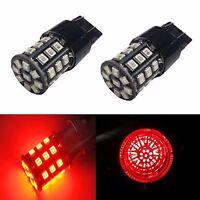JDM ASTAR 2x 33SMD Red 7443 7440 AX-2835 LED Brake Turn Tail Marker Lights Bulbs