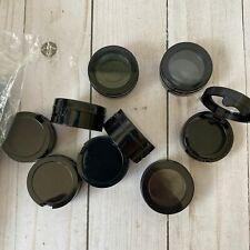 Lot of 47 3ml Black Hinged Cosmetic Jars