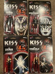 BBP29100: KISS Rock and Roll Over 3.75 Inch Action Figure Set of 4 Bif Bang Pow