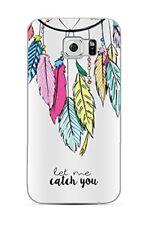 Samsung Galaxy S7 - Coque transparente souple slim et solide ( Plumes colorés )