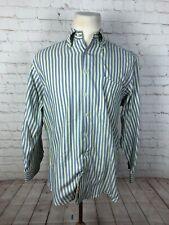 Peter Millar Men's Yellow/Blue Stripe Dress Shirt 15-15.5 32/33 $125