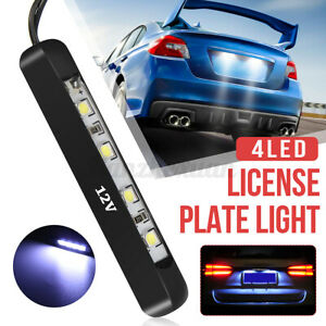 12V Tiny Rear Number Plate Light Universal Car Motorcycle Micro 4 LED Tail Lamp