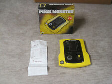 PUCK MONSTER Vintage Electronic Handheld Game By CGL - Boxed 1982 TESTED! PacMan