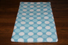 New Blue Turquoise Aqua Teal Polka Dot Fleece Dog Cat Pet Carrier Blanket Bcr
