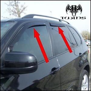 Set 4 Déflecteurs de vent pluie air teintées pour BMW X5 E70 2007-2013