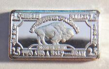 "2.5 gram German Silver ""USA Buffalo"" Ingot (No Capsule) b"