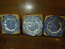 Vintage Liberty Blue Small Plates Still in Package Set of 3