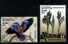 2013 Belarus.  The Red Book. Moonwort. European Roller. Set. MNH