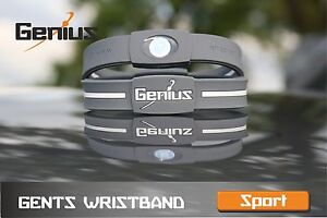 GENIUS GENTS SPORT IONIC WRISTBANDS - Enhance health & well-being.