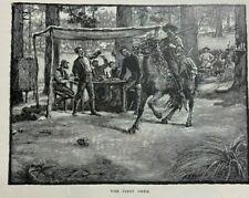 1887 Camping Out In California illustrated