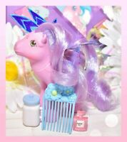 ❤️My Little Pony MLP G1 Vintage FLUTTER PONY Purple Lily with Wings & Comb❤️