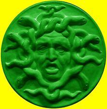 Medusa Green Sculpture Statue Art Home Decor Figurine Greek Italian Wall Plaque
