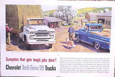 1959 Chevrolet Chevy Pickup Truck ORIGINAL  Ad   CMY STORE 4MORE  5+= FREE SHIP
