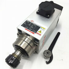 ER20 Air-cooled Electric Spindle Motor 1.5KW 24000RPM 220V 4Bearing CNC Router