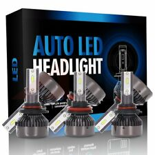 9005 + 9006 + H11 6pcs LED Headlights Hi/Low Beam Car 162000LM Fog Light Lamp