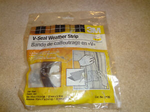 """3M Do-It-Yourself V-Seal Weather Strip 7/8"""" x 17', Brown, Adhesive Backed"""