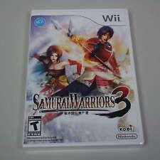 NEW SEALED Wii Game Samurai Warriors 3 (B200)