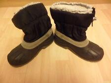 element terre Black Snow Boots Size 33/34