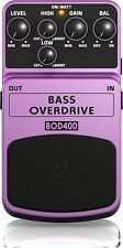 Behringer BOD400 Bass Overdrive Effetto a pedale Tube Sound per Basso, Viola