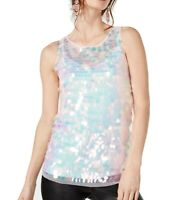 INC Womens Blouse Classic Light Pink Size XL Sequin Embellished $69- 016