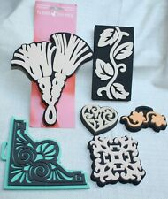 New listing Lot Of 6 New Painting Foam Rubber Stamps Tassel Corner Leaves Heart Designs New