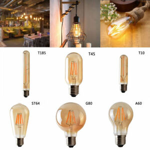 Vintage Industrial Retro Edison LED Bulb E27/B22/E14 base Light Bulb 220V-250V